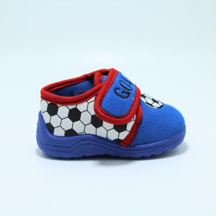 Papuci interior baieti, model Fotbal585, albastru sau gri, marimi 19-27 [1]