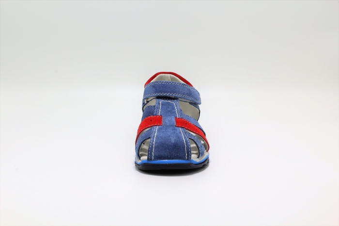 Sandale baieti din piele, HappyBee Denim Blue/Red, marimi 26-31 EU 3