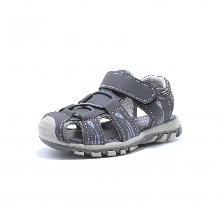 Sandale baieti Happy Bee, model 143090 gri inchis, 25-30 EU 2