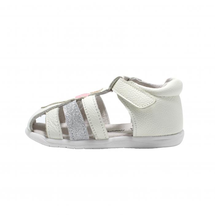 Sandale din piele Happy Bee, model 142864 albe, 19-24 EU 1