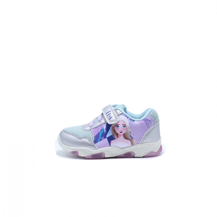 Pantofi sport cu luminite, Frozen FR2095, argintiu, 24-32 0