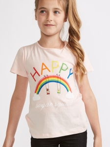 Tricou roz pal Happy 2-8 ani2