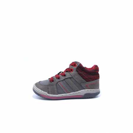 Sneaker baieti, Sprox 372722, gri-burgundy, 20-25 EU0