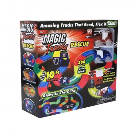 Magic Tracks, circuit auto cu 2 masinute, fosforescent, 300+ cm [0]