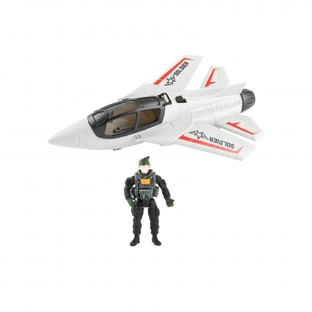 Avion militar cu figurina si accesorii A.R.M.Y0