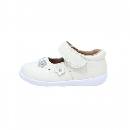 Pantofi din piele Happy Bee, model 142544, alb, 19-24 EU0