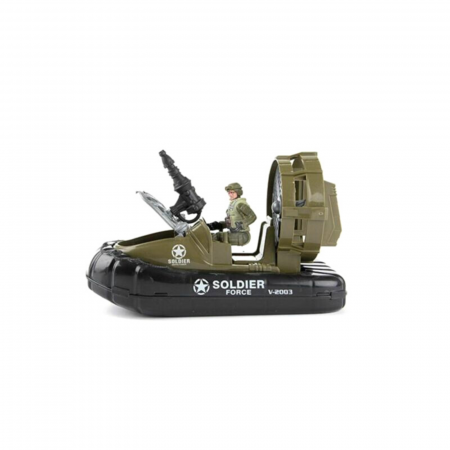 Barca militara cu figurina si accesorii A.R.M.Y0
