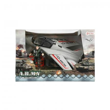 Avion militar cu figurina si accesorii A.R.M.Y3