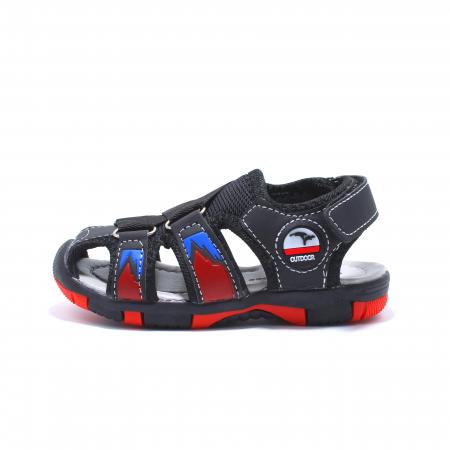 Sandale sport baieti Happy Bee, model 141880 negru/rosu, 20-25 EU0