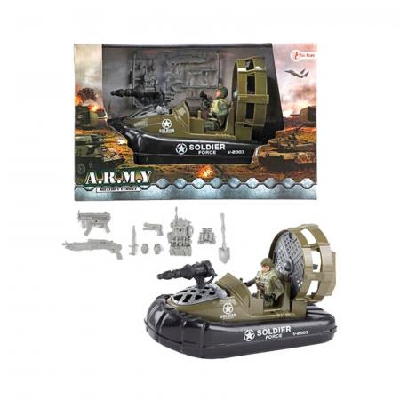 Barca militara cu figurina si accesorii A.R.M.Y1