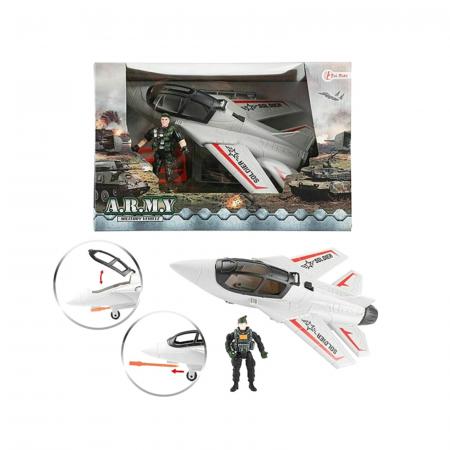 Avion militar cu figurina si accesorii A.R.M.Y4