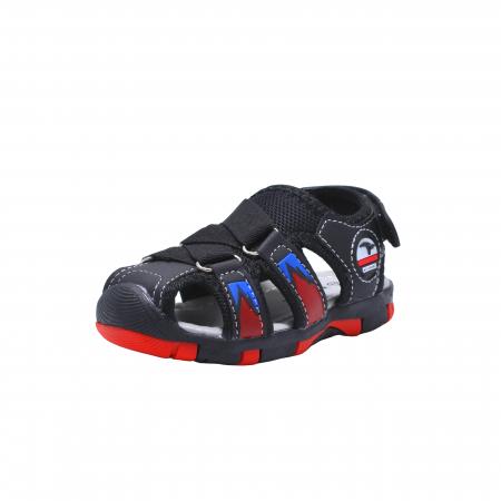 Sandale sport baieti Happy Bee, model 141880 negru/rosu, 20-25 EU1