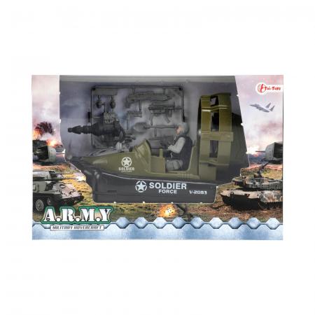 Barca militara cu figurina si accesorii A.R.M.Y [2]