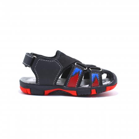 Sandale sport baieti Happy Bee, model 141880 negru/rosu, 20-25 EU2
