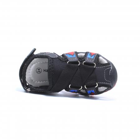 Sandale sport baieti Happy Bee, model 141880 negru/rosu, 20-25 EU4