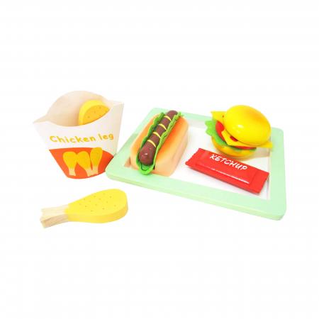 Tava cu mancare fast food din lemn, Ferry Jouets [0]