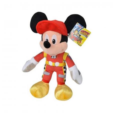 Jucarie de plus Mickey pilotul de curse 25 cm, Disney Roadster Racers0
