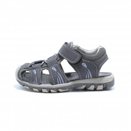 Sandale baieti Happy Bee, model 143090 gri inchis, 25-30 EU0