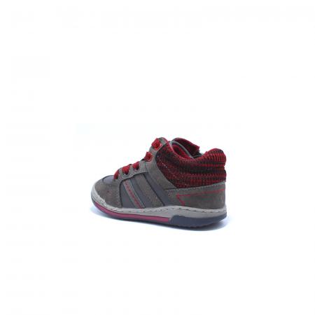 Sneaker baieti, Sprox 372722, gri-burgundy, 20-25 EU3