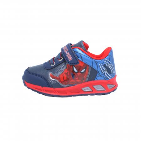 Pantofi sport cu luminite Spiderman, model 8875 navy-rosu, 25-33 EU0