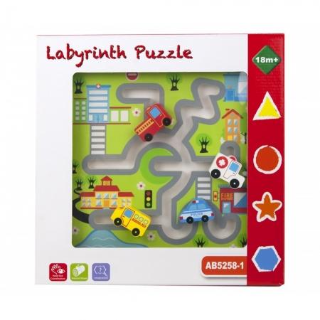 Puzzle lemn labirint auto [1]