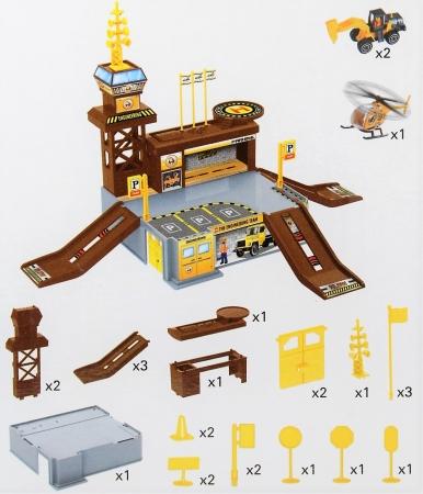 Set de joaca garaj/parcare santier constructii 26 de piese2