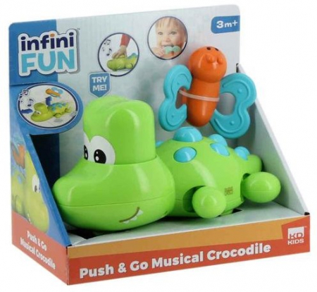 Crocodil muzical Push & Go, Infini Fun1