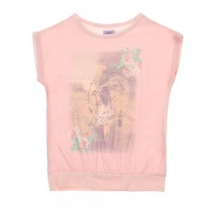 Bluza F&F, roz pal cu imprimeu, 6-13 ani0