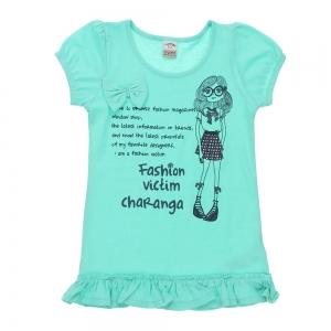 Tricou/Top fete Charanga, vernil, 8-9 ani0