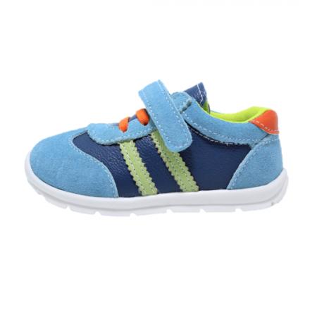 Pantofi sport din piele Happy Bee, model 142054, pentru baieti 19-24 EU