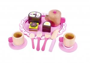 Set de ceai din lemn0