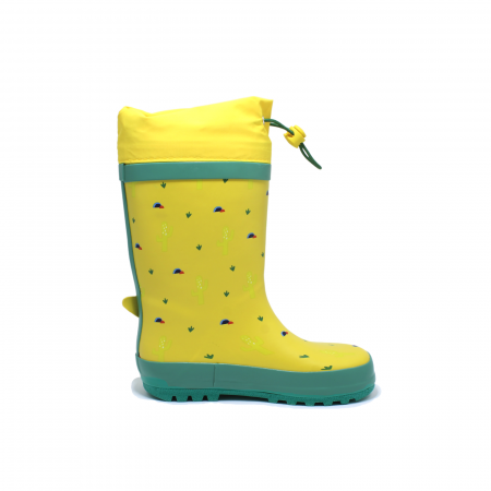 Cizme de ploaie pentru copii, Dino, galben-verde, 28-35 EU [1]