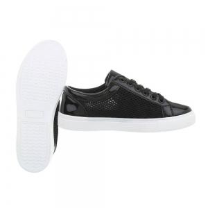 Pantof negru timp liber/leisure de vara pentru femei2