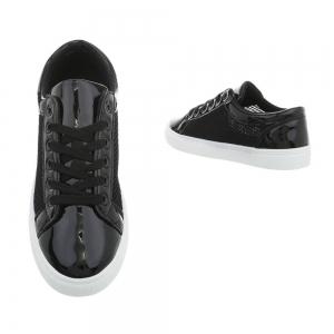 Pantof negru timp liber/leisure de vara pentru femei1