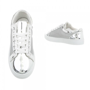 Pantof silver timp liber/leisure de vara pentru femei1