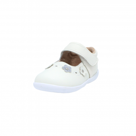 Pantofi din piele Happy Bee, model 142544, alb, 19-24 EU2