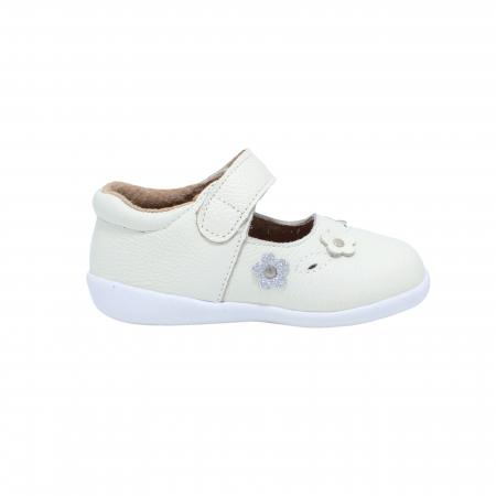 Pantofi din piele Happy Bee, model 142544, alb, 19-24 EU1