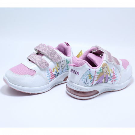 Pantofi sport cu luminite, Frozen FR2415, alb, 24-324