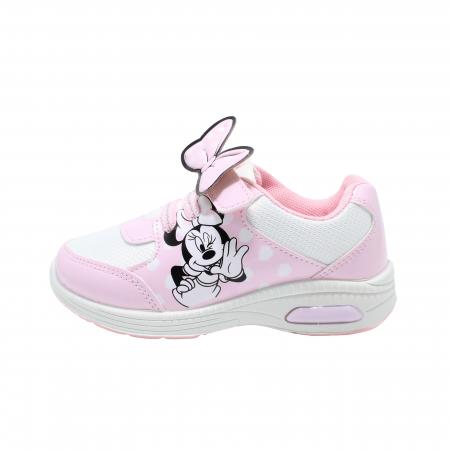 Pantofi sport cu luminite, Minnie Mouse, model 5129, alb/roz, 24-32 EU0