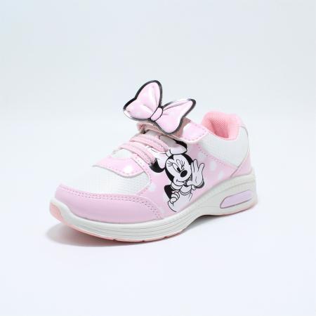 Pantofi sport cu luminite, Minnie Mouse, model 5129, alb/roz, 24-32 EU1