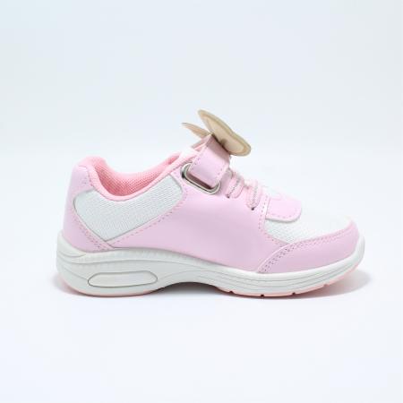 Pantofi sport cu luminite, Minnie Mouse, model 5129, alb/roz, 24-32 EU2