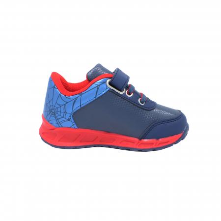 Pantofi sport cu luminite Spiderman, model 8875 navy-rosu, 25-33 EU2
