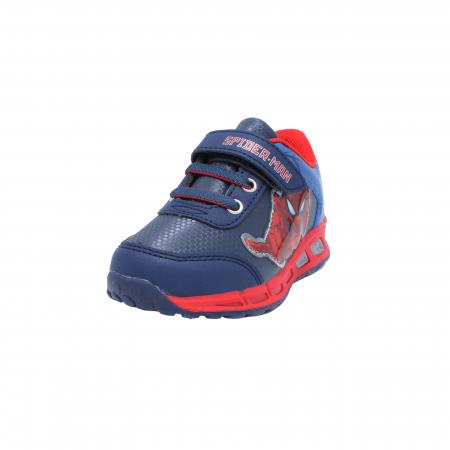 Pantofi sport cu luminite Spiderman, model 8875 navy-rosu, 25-33 EU1