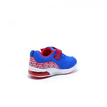 Pantofi sport cu luminite, Spiderman SPM9435, rosu-albastru, 25-332