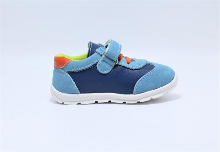 Pantofi sport din piele Happy Bee, model 142054, pentru baieti 19-24 EU2