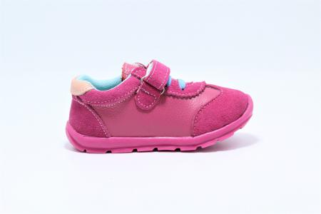 Pantofi sport din piele Happy Bee, model 142055, pentru fete 19-24 EU2