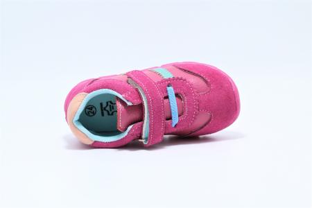 Pantofi sport din piele Happy Bee, model 142055, pentru fete 19-24 EU3