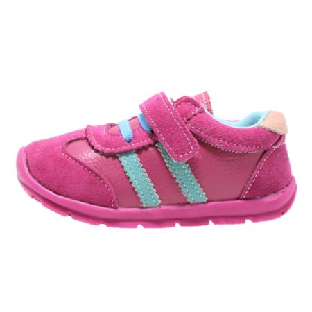Pantofi sport din piele Happy Bee, model 142055, pentru fete 19-24 EU