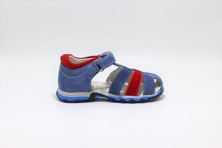 Sandale baieti din piele, HappyBee Denim Blue/Red, marimi 26-31 EU1