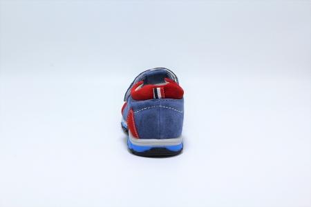 Sandale baieti din piele, HappyBee Denim Blue/Red, marimi 26-31 EU4